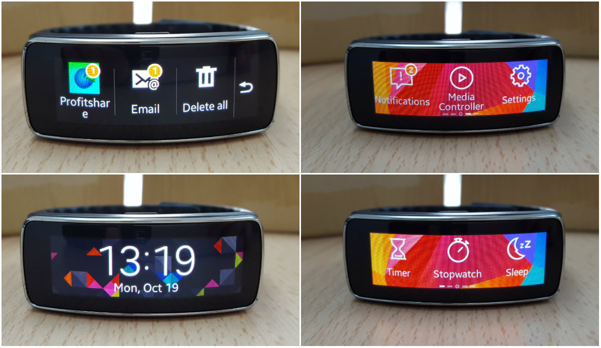 samsung gear fit meniuri