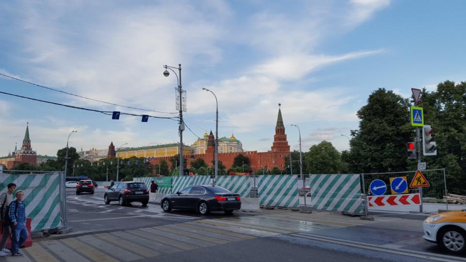 Kremlinul, de departe