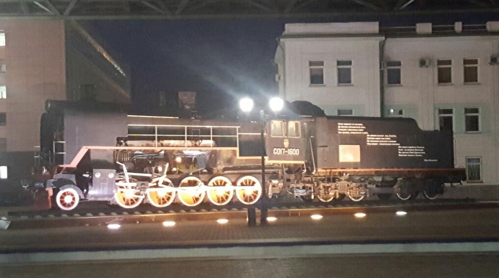 Am coborat cu bielorusul si am pozat o locomotiva