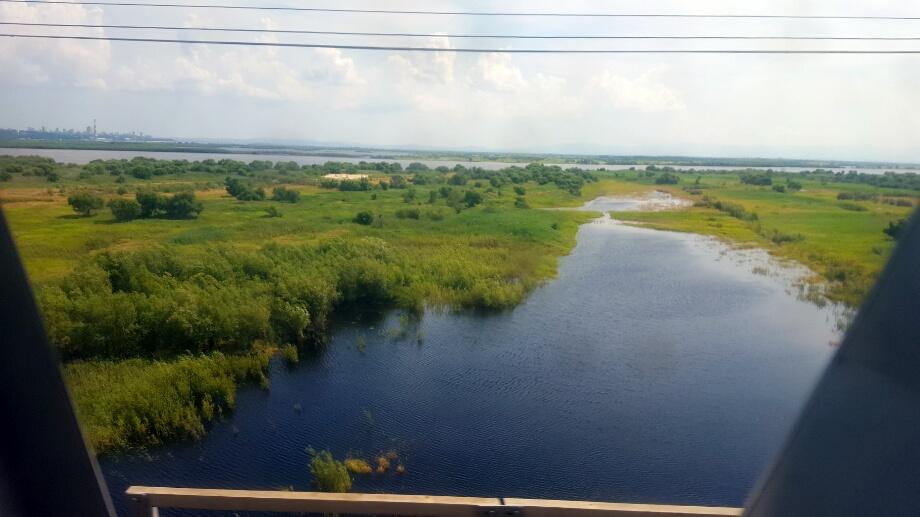 Intrarea in Khabarovsk, cu delta de rigoare