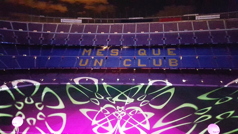 Stadionul, decorat așa pentru cina noastră