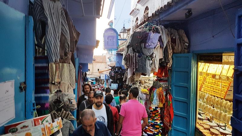 Străzi înguste în centrul Chefchaouen